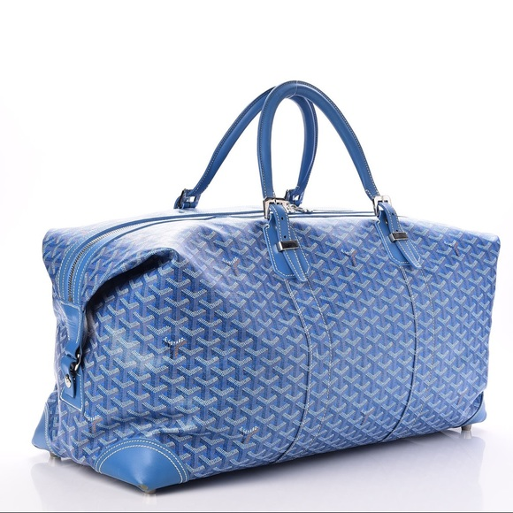 Goyard Bags Chevron Boeing 55 Authentic Sky Blue Rare